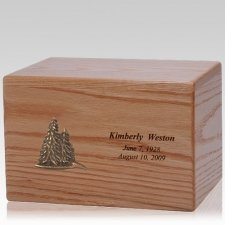 Evergreen Wood Cremation Urn
