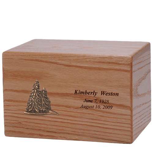 Evergreen Wood Cremation Urn