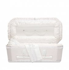 Exquisite Ivory Small Child Casket