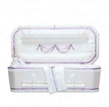 Exquisite Lilac Mini Child Casket