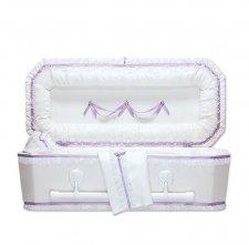 Exquisite Lilac Premie Child Casket