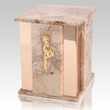 Foresta Brown Tone Marble Cremation Urn