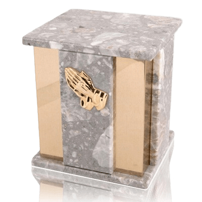 Foresta Grey Stone Marble Cremation Urns