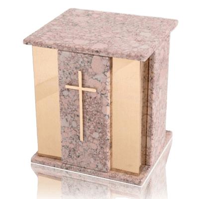 Foresta Redish Stone Marble Cremation Urn