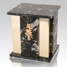 Foresta Cambrian Black Granite Urn