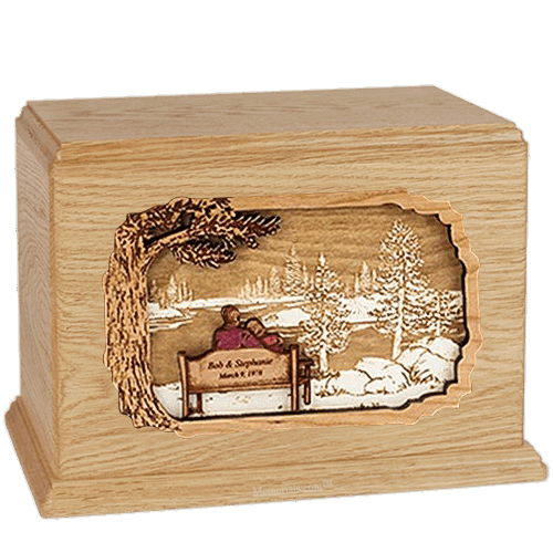 Forever Yours Maple Companion Urn