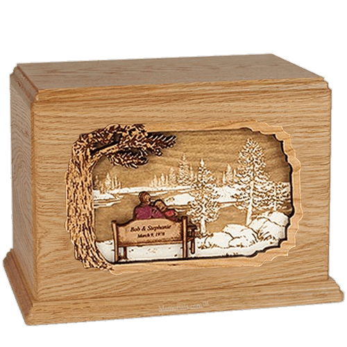 Forever Yours Oak Companion Urn