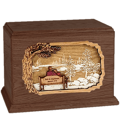 Forever Yours Walnut Companion Urn