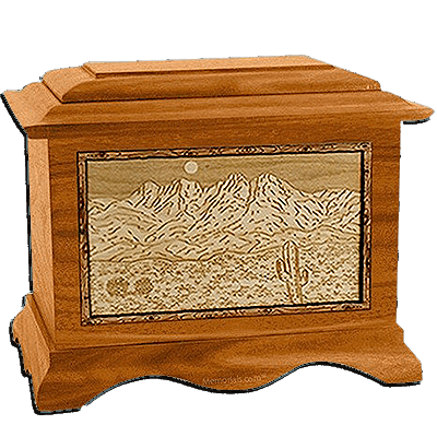 Four Peaks Mahogany  Cremation Urn For Two