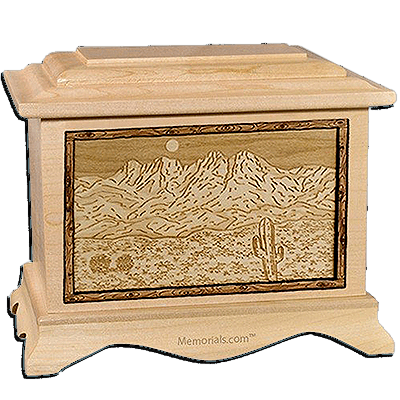Four Peaks Maple Cremation Urn For Two