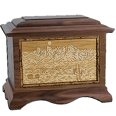 Four Peaks Walnut Cremation Urn For Two