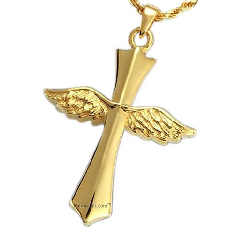 Faith Cross Cremation Pendant IV