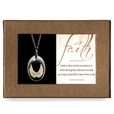 Faith Gift Boxed Angel Pendant