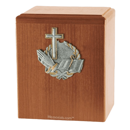 Faith Light Cherry Cremation Urn