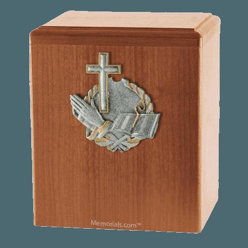 Faith Light Cherry Cremation Urn