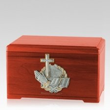 Faith Prayer Cherry Cremation Urn