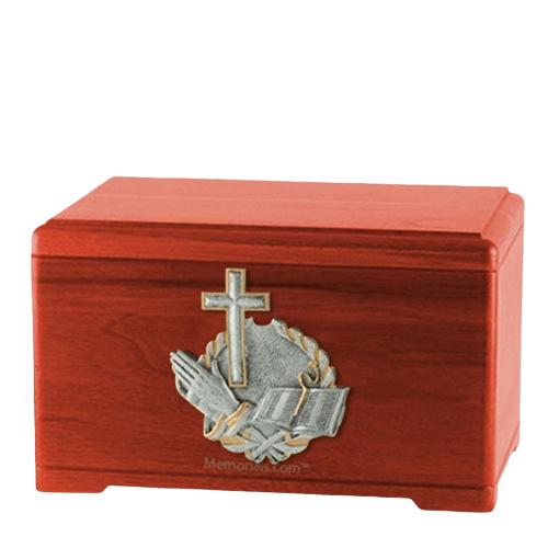 Faith Prayer Cherry Cremation Urn