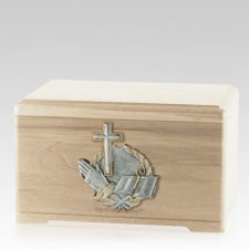 Faith Prayer Maple Cremation Urn