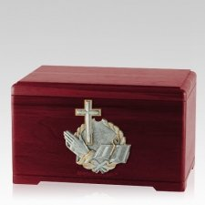 Faith Prayer Rosewood Cremation Urn