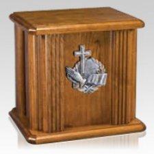 Faith Wood Cremation Urn