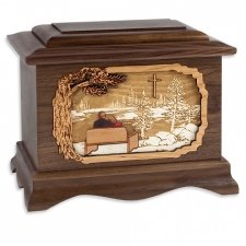 Faithful Oak Hampton Cremation Urn