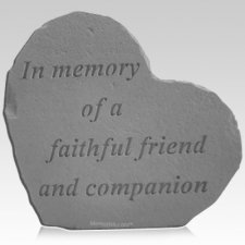 Faithful Heart Pet Memorial Stone