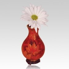 Fall Leaf Cloisonne Vase