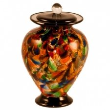 Fall Glass Pet Cremation Urn