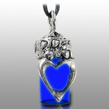 Family Blue Pet Urn Necklace