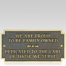 Family Owned Signage Plaque
