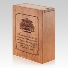 Family Tree Wood Scattering Urn