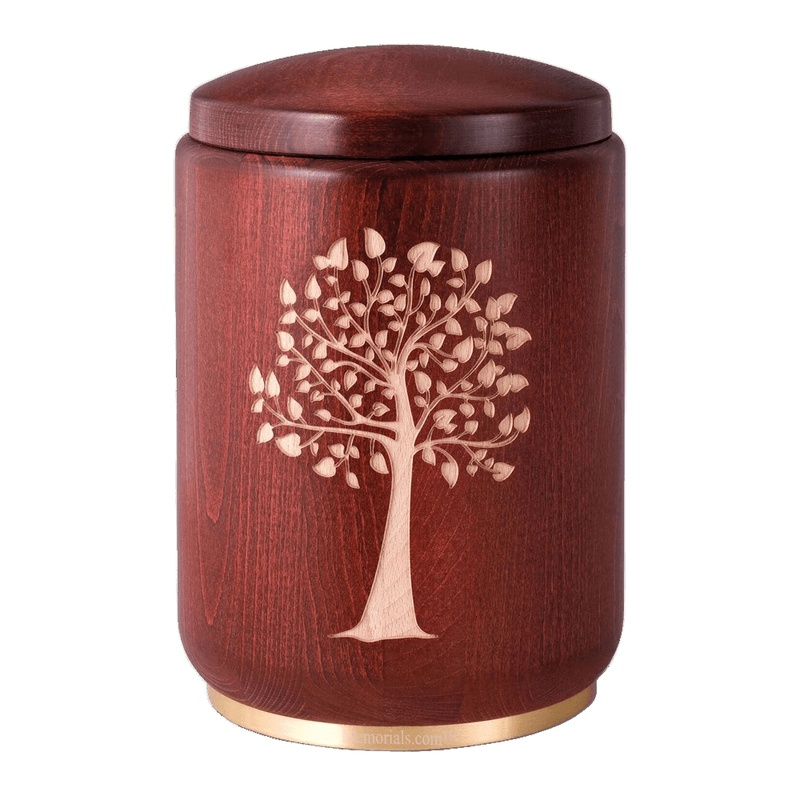 Family Tree Wood Cremation Urn