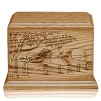 Farm Walnut Wood Urn