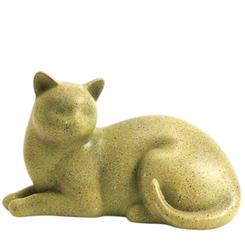 Fawn Cozy Cat Cremation Urn