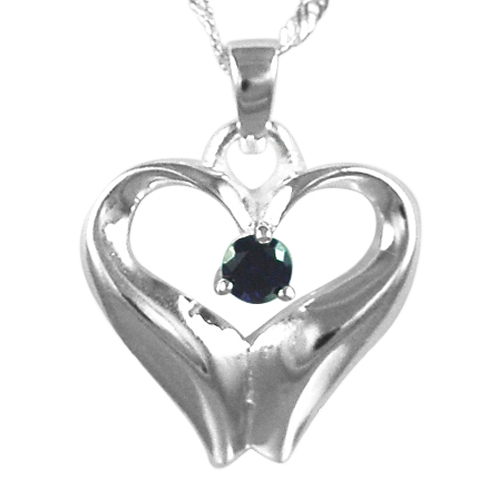 February Birthstone Cremation Heart
