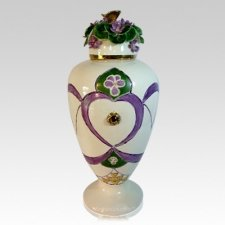 February Love Cremation Urn