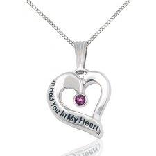 February Heart Keepsake Jewelry
