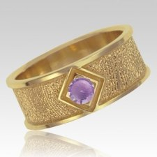 February Birthstone 14k Yellow Gold Ring Print Keepsake
