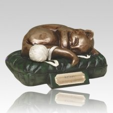 Feline Dreams Green Cremation Urn