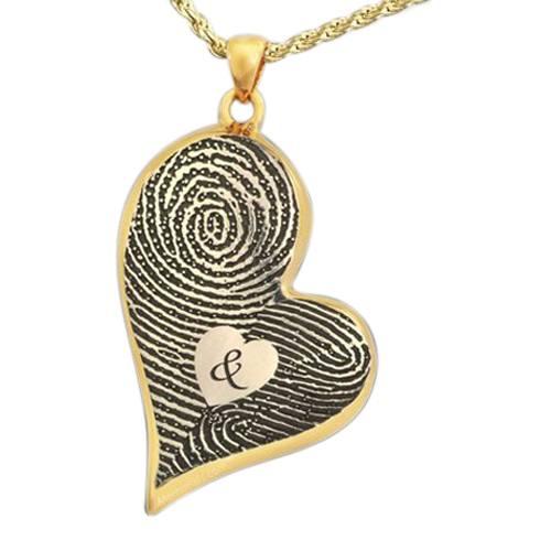 Fidelity Heart 14k Gold Cremation Print Keepsake