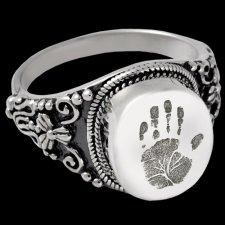 Filigree Cremation Print Rings