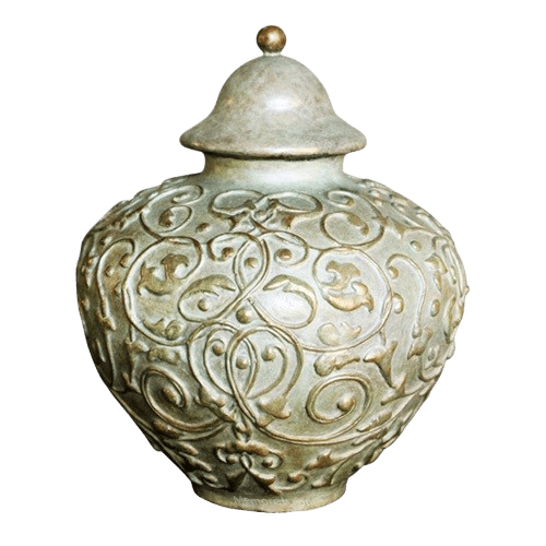 Filigree Bronze Cremation Urn
