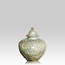Filigree Bronze Small Cremation Urn