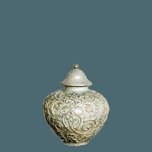Filigree Bronze Small Cremation Urn