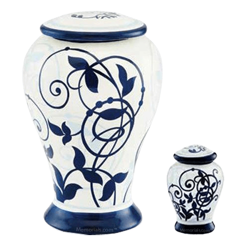 Filigree Ceramic Cremation Urns
