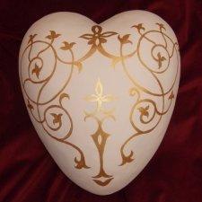 Filigree Ceramic Heart Urn