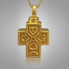 Filigree Cross Cremation Necklace II