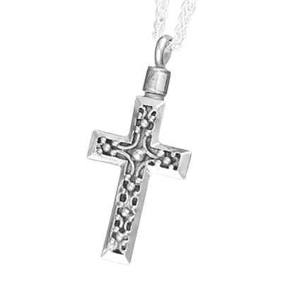 Cross Filigree Cremation Jewelry