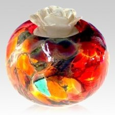 Fire Candle Glass Pet Urn