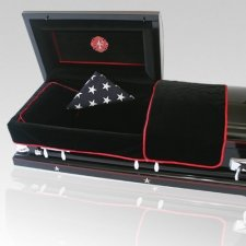 Firefighter Casket